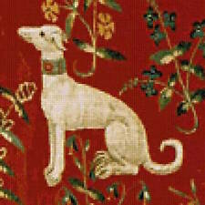 10% off Scarlet Quince Counted X-stitch chart-Cluny Tapestry Dog - Large Print