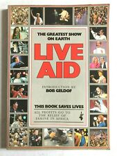LIVE AID 1985 official souvenir book THE GREATEST SHOW ON EARTH