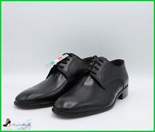 Zapatos de Hombre Clásico de Piel Made IN Italy Elegantes Para Boda Con Cordones