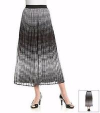 NOTATIONS® XL Black Pleated Ombre Long Skirt NWT $44