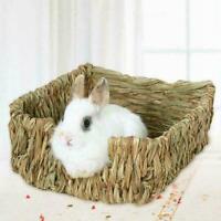 Gras gewebte Meerschweinchen Kaninchen Hamster Bett Haustie Stroh Nest Ma V8J7