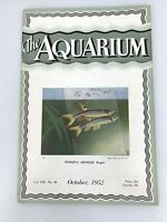 The Aquarium Magazine October  1952 Vol 21 No. 110 Copeina Arnoldi Regan