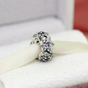 * New! Authentic Pandora Forget Me Not Purple Spacer Charm 791834ACZ