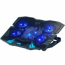 Rosewill Gaming Laptop Cooler Notebook Cooling Pad 5 Silent Blue LED Fan RWNB16A