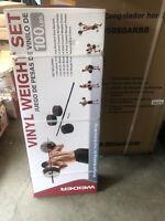 BRAND NEW Weider 100lb Vinyl Barbell Weight Set SHIPS NEXT DAY