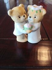 "New ListingVintage Enesco Ceramic Wedding Cake Topper, ""Lucy and Me"" Bear Bride and Groom"