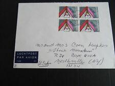 Nederland 1168 blok van 4 op brief  Maassluis - Northville NY