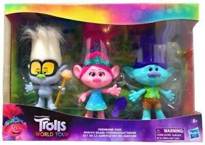 New Hasbro DreamWorks Trolls World Tour Friendship Pack - 3 Piece Dolls UK