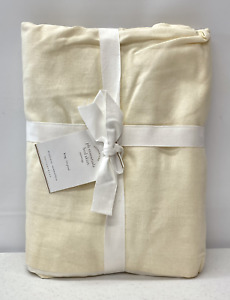 "NEW Pottery Barn PB Essential Cotton & Linen KING Bedskirt w/18"" Drop~Ivory"