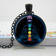 CHAKRA MEDITATION PENDANT NECKLACE / Chain Jewellery Gift Idea Yoga Spiritual