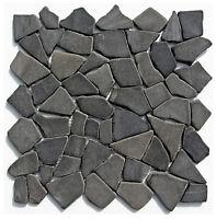 1 Matte Bruchstein Mosaik - M-001 - Grau Marmor Verblender Wand + Boden Fliesen