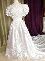 Robe de mariée vintage90'S San Patrick,perle,taine Taille FR40 U8 UK12 EUR38