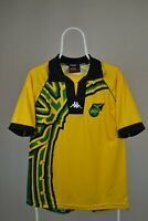 KAPPA Jamaica Home 1998/2000 Vintage Retro Football Shirt Jersey Yellow Large
