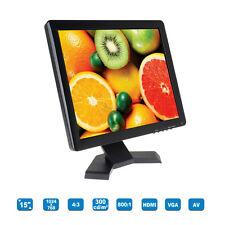 """15"""" TFT LCD 1024*768 HD 1080P Camerts Video DVD PC Game Monitor HDMI VGA AV BNC"""