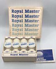 Dozen Vintage Royal Master Golf Balls With Chevrolet  Logo Original Box #131