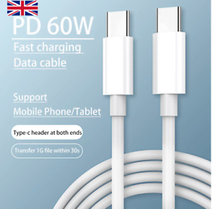 PD Data Cable USB C To USB Type C 60W Fast Charging Cable Usb C Cable 🇬🇧