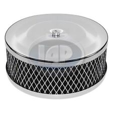 """VOLKSWAGEN VW BUG GHIA BUGGY BUS CHROME AIR CLEANER 2"""" NECK AC129741"""