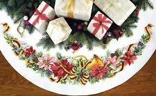 Cross Stitch Kit ~ Dimensions Holiday Harmony Christmas Tree Skirt #70-08939