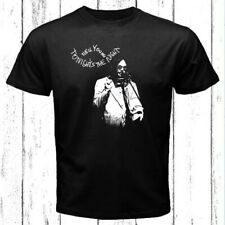 Neil Young Tonight's The Night Logo Men's Black T-Shirt Size S-3XL