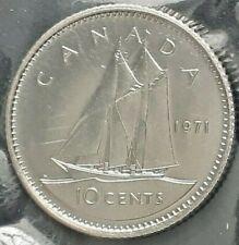 CANADA 1971 CANADIAN 10 Ten Cents Elizabeth II 2nd portrait Dime.