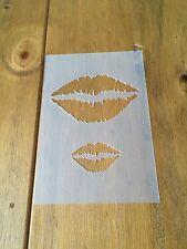Beso labios Mylar reutilizable Plantilla Aerógrafo Pintura Arte Arte HAZLO TÚ MISMA Decoración del hogar