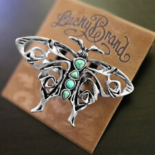 NWT LUCKY BRAND 3D Butterfly Silver Turquoise Sz 7 Ring NEW