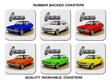 HOLDEN  TC  GEMINI  COUPE   SET OF 6   RUBBER DRINK  COASTERS