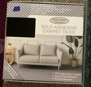 Kentex Self Adhesive 12x12 Carpet Tiles Black. NIB