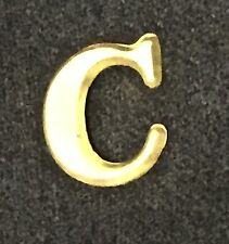 Reproduction  Civil War Company Letter C Brass Kepi Badge