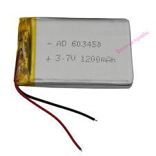 3.7V 1200mAh Batería recargable de Li polímero para Cámara mp4 GPS Tablet PC 603450