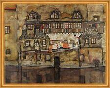 House Wall on the River Egon Schiele CASE STENDIBIANCHERIA fiume MURO B a1 01610