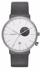 Skagen SKW6319 Men's Ancher Nubuck Leather Band Titanium Dual Time Watch