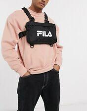 Official Fila Black & White Chest Bag Pouch Tibbs Tk One Size  - UK