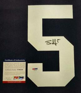 Ohio State Buckeyes Braxton Miller Signed #5 Jersey Number PSA/DNA COA