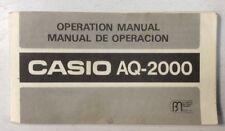 Casio AQ-2000 Electronic Calculatind Click Operation Manual PreownedBook.com OEM