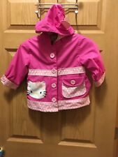Hello Kitty Rain Coat With Hood Size 3T Girls. Excellent Condition