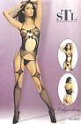 Sexy Body Lingerie Donna Hot Catsuit Bodystocking Intimo Tutine Rete Nero Pizzo