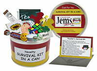 TEACHER SURVIVAL KIT IN A CAN. Thank You/End of Term/Leaving/Christmas Gift Card