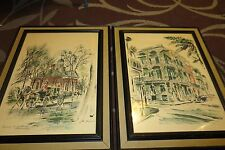 PAIR of Original Water Colors by JOHN HAYMSON ~ 2 Framed Water Colors Art