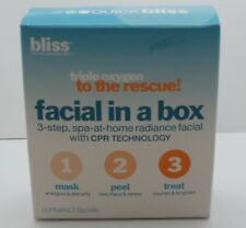 Bliss Triple Oxygen To The Rescue! Facial In A Box 3 Step Spa At Home Radiance