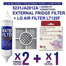 (2X)5231JA2012A LG Genuine Fridge Filter with Genuine Air Filter LT120F
