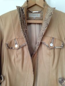 Karen Millen Leather Jacket Size 12