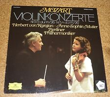 LP Karajan Anne Sophie Mutter Violinkonzert Mozart DGG Club Edition KV 216 219