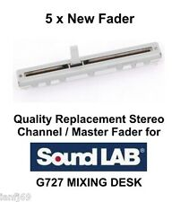 5 x Replacement Fader/Slider pour Sound-Lab G727 Mélangeur stéréo pièce de rechange