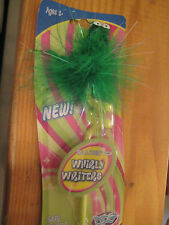 DIG Ball Point Pen Bouncing Frog Green Feather Stationary Wedding Fancy