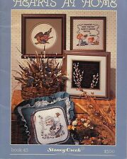 HEARTS AT HOME VINTAGE CROSS STITCH PATTERN BOOK CHILDREN IN COUNTRY SCENES MORE