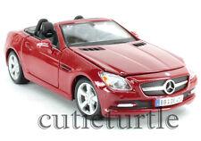 Maisto 2011 Mercedes Benz SLK Convertible 1:24 Diecast 34206 Red