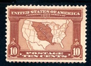 USAstamps Unused FVF US 1904 Louisiana Purchase Scott 327 OG MHR