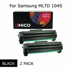 2PK MLT-D104S Black Toner Cartridge for Samsung Laser Printer ML-1660 1665 1666