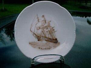 "SPODE  4.25""  CLIPPER SHIP PIN PLATE  ENGLAND HMS CANOPUS"